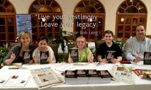 Family book signing in Corpus Christi, Texas