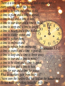 A Time For Everything    Ecclesiastes 3:1-11